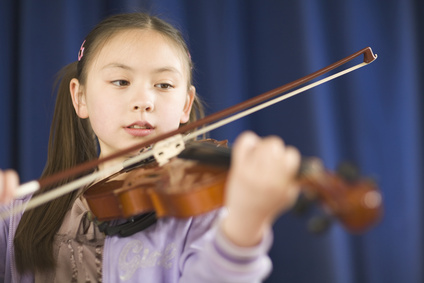 Secondary Student Playing Violin
