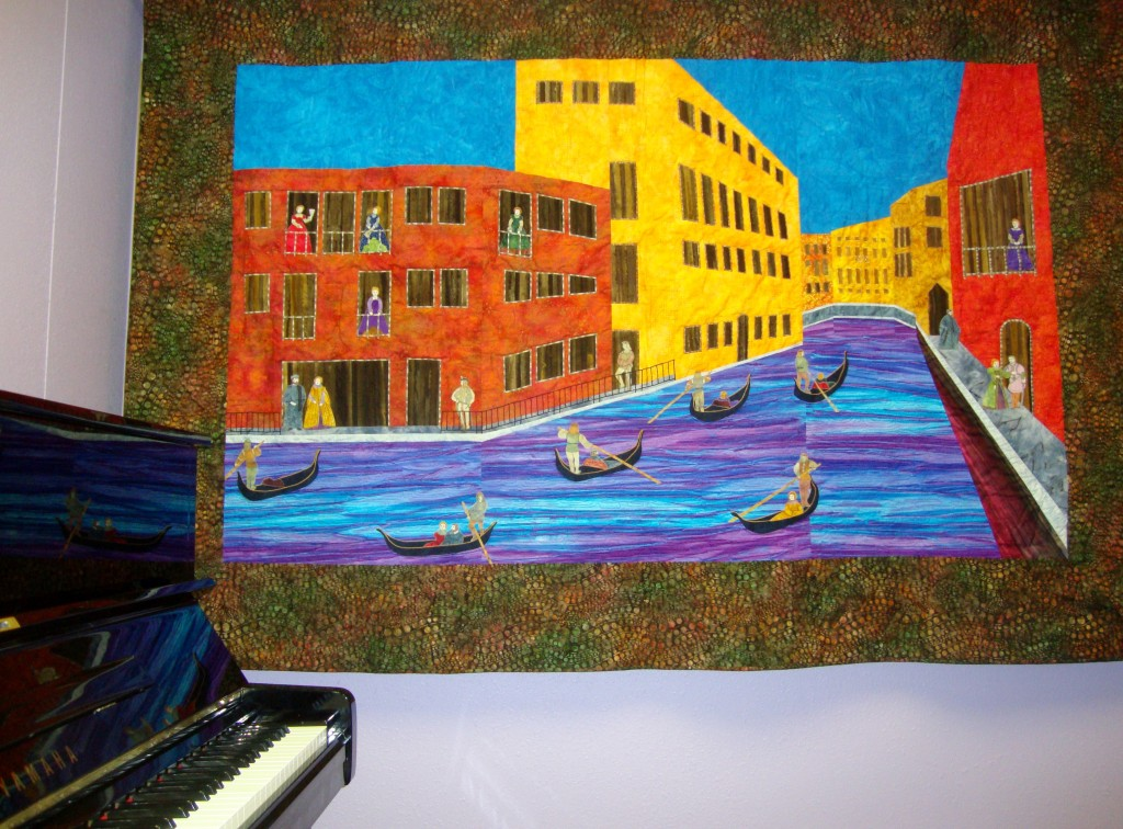 Venice Themed Fabric Art