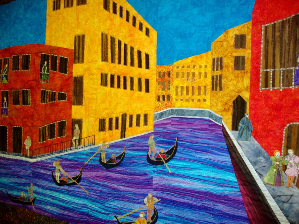 Venice Fabric Art Detail